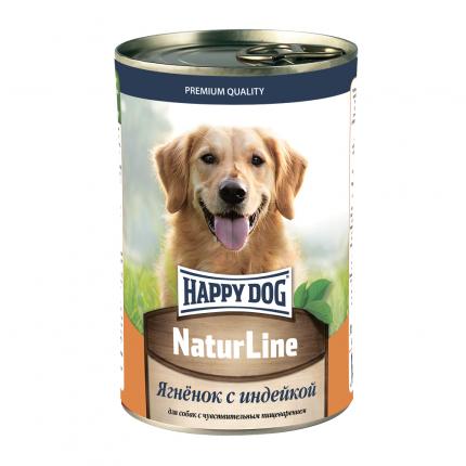 Консервы для собак Happy Dog Natur Line, индейка, 410г