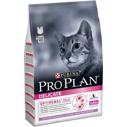Сухой корм для кошек PRO PLAN Delicate Optirenal, индейка, 3кг