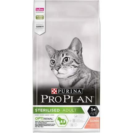 Сухой корм для кошек PRO PLAN Sterilised Optirenal, для стерилизованных, лосось, 10кг