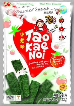 TAO KAE NOI Crispy Seaweed Tomato Sauce Flavour Томат 32 грамма Упаковка 6 шт