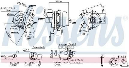 Турбокомпрессор двигателя Renault Clio/Megane, Nissan Tiida/Qashqai 1.5 Dci Nissens 93089