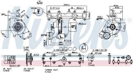 Турбокомпрессор двигателя Vw Transporter T5 03 Nissens 93032