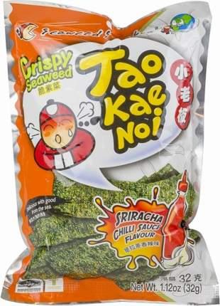 Снеки из морских водорослей TAO KAE NOI со вкусом красного перца 15 гр Упаковка 20 шт
