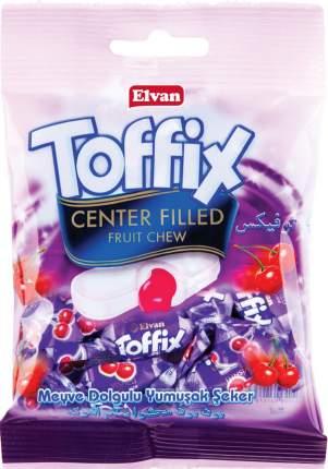 Жевательные конфеты Elvan Toffix Вишня 90 гр Упаковка 8 шт