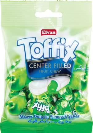 Жевательные конфеты Elvan Toffix Яблоко 90 гр Упаковка 8 шт