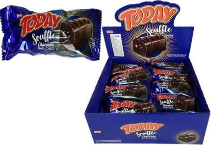Кекс Today Souffle батончик с шоколадным кремом 45 гр Упаковка 24 шт
