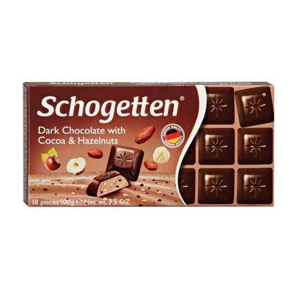 Темный шоколад Schogetten Dark Chocolate with Cocoa&Hazelnut 100 грамм Упаковка 15 шт