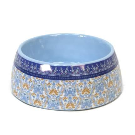 Одинарная миска для собаки TarHong Flower Fields, меламин, голубой, 0.48 л