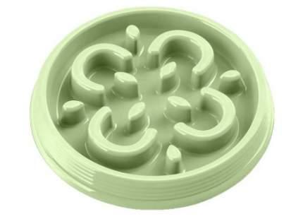 Интерактивная миска для собаки TarHong для медленного поедания, меламин, зеленый, 0.23 л