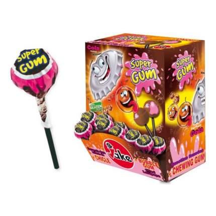 Леденец на палочке с жвачкой Super Gum Cola 16 гр Упаковка 100 шт