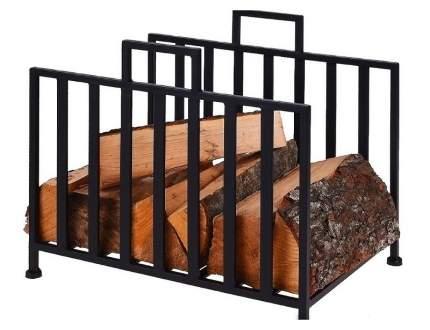 подставка для дров томек, металл, чёрная, 41х35х31 см, арт. FB8200390, Интекс