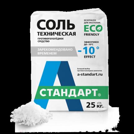 Противогололедный реагент А-Стандарт Соль техническая 01-00000470 25 кг