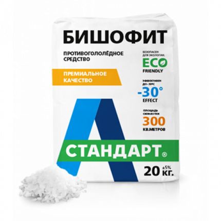 Противогололедный реагент А-Стандарт Бишофит 01-00000475 20 кг