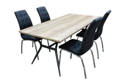Набор мебели Бергамо черный арт.K-171/W-120 бежевый, черный