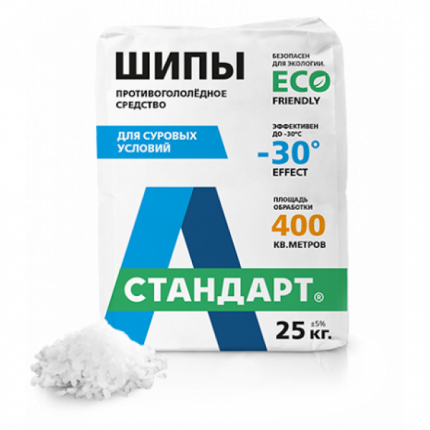 Противогололедный реагент А-Стандарт Шипы 01-00000476 25 кг