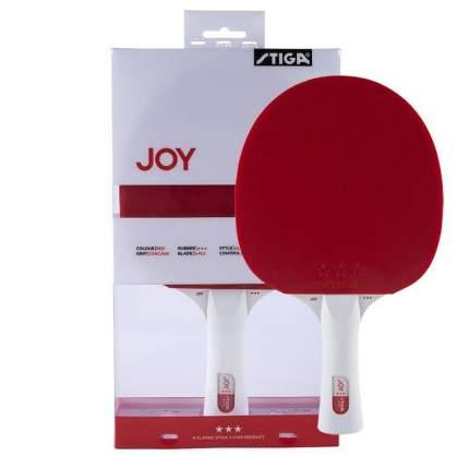 Ракетка для настольного тенниса Stiga JOY***, -, красный, тренировочный