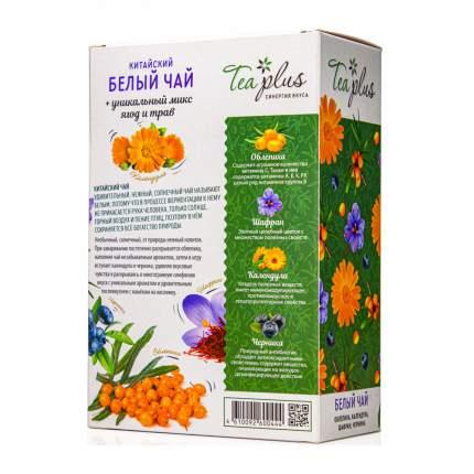 "Чай Tea Plus ""Белый чай (Бай му дань)"", листовой, с добавками, 60 гр"