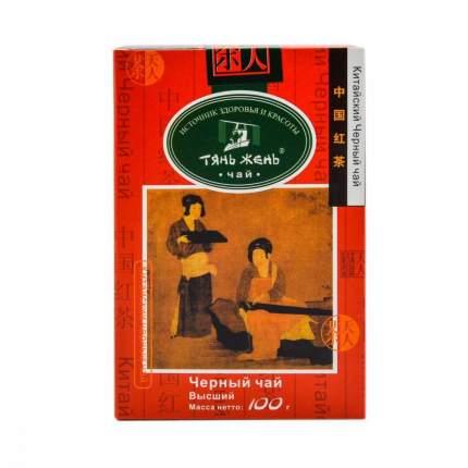 Чай Тянь Жень, черный листовой, 100 гр