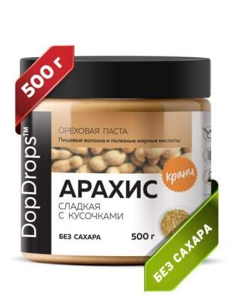 Паста Арахисовая DopDrops Хрустящая Кранч сладкая, 500 г