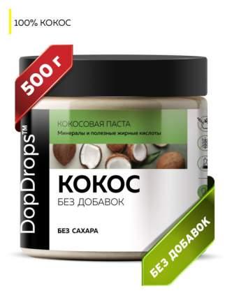 Паста Кокосовая DopDrops (Урбеч из мякоти кокоса) без добавок, 500 г