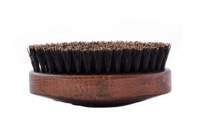 """Щетка для укладки бороды DEWAL """"BARBER STYLE"""", натуральная щетина, 9-рядная CO-109"""