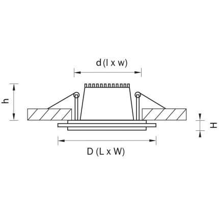 Встраиваемый светодиодный светильник Lightstar Acri 212022