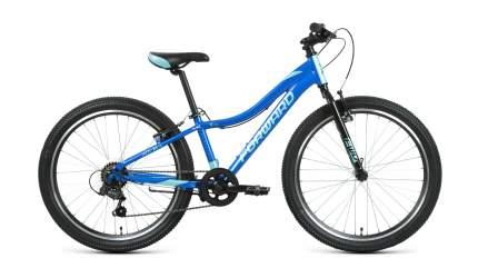 """Велосипед Forward Jade 24 1.0 2021 12"""" синий/бирюзовый"""