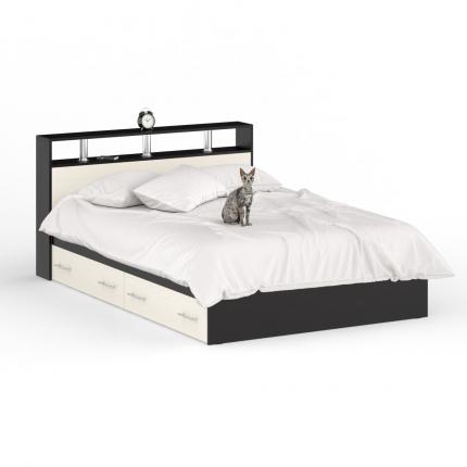 Кровать с ящиками Камелия 1400+Осн венге/дуб лоредо, 144х204х88 см