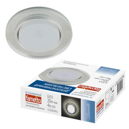 Встраиваемый светильник Fametto Luciole DLS-L155 GX53 GLASSY/CLEAR 3D