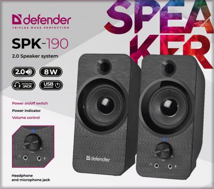 Колонки для компьютера Defender SPK-190 Black