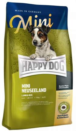 Сухой корм для собак Happy Dog Supreme Mini Neuseeland, для мелких пород, ягненок, рис,4кг