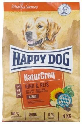 Сухой корм для собак Happy Dog NatureCroq Adult, говядина, рис, 4кг