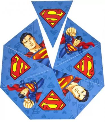 Гирлянда поздравительная Superman. Персонажи флажки ND Play
