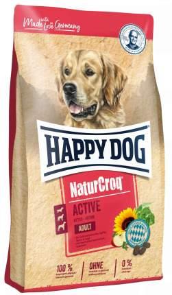 Сухой корм для собак Happy Dog NatureCroq Active, птица, говядина, морская рыба, 15кг