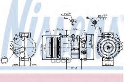 Компрессор Кондиционера Toyota Rav4 Iii 06-12 Mot.2,0vvti Nissens 89516 Nissens 89516