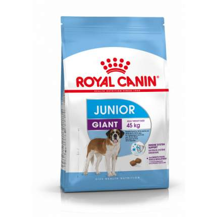 Сухой корм для щенков ROYAL CANIN Junior Giant, птица, 15кг
