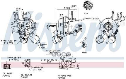 Турбокомпрессор двигателя Kia Sorento 2.5crdi Nissens 93042