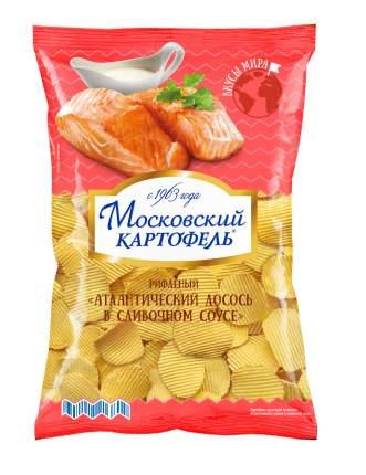 Картофель Московский хруст. рифл со вкусом лосося в сливочном соусе 150г