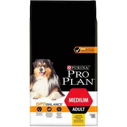 Сухой корм для собак PRO PLAN OptiBalance Medium Adult, для средних пород, курица, 14кг
