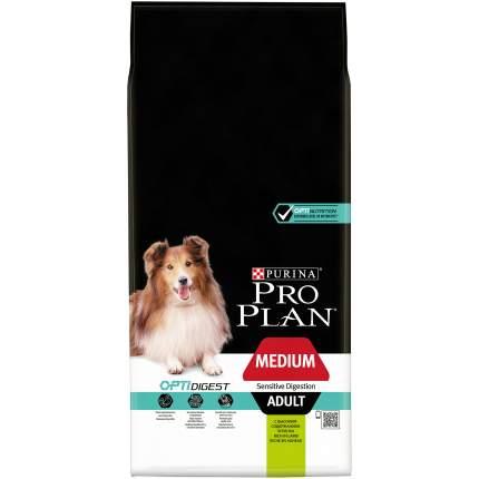 Сухой корм для собак PRO PLAN OptiDigest Medium Adult, для средних пород, ягненок, 14кг