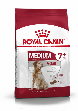 Сухой корм для собак ROYAL CANIN Adult 7+ Medium, рис, птица, 15кг