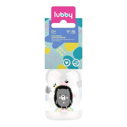 Бутылочка с силиконовой соской Lubby Малыши и малышки, 125 мл в ассортименте