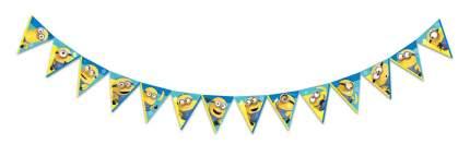 Гирлянда поздравительная Minions 2 Персонажи флажки, 3D дизайн ND Play