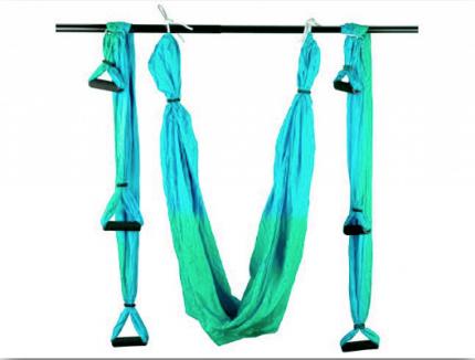 Гамак для йоги: С.YJ-KMA (Салатово-голубой - Г+СА)