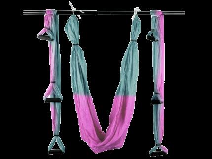 Гамак для йоги: С.YJ-KMA (Серо-розовый - Р+Р)