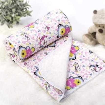 Одеяло-покрывало трикотажное АРТПОСТЕЛЬ Карапуз розовый, 100х140