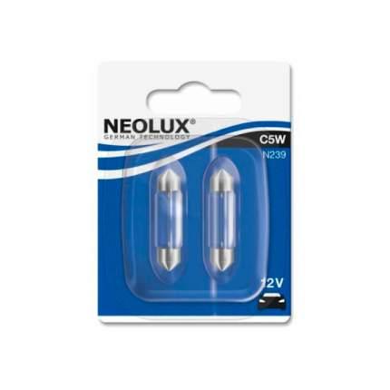 Лампа Neolux C5W N239 5W 12V SV8.5-8 5XFS10