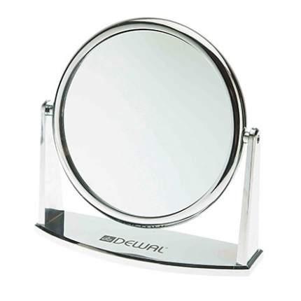 Зеркало Dewal настольное, серебристое, 18 см