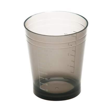 Стакан мерный Dewal с резинкой на дне, черный, 135 мл