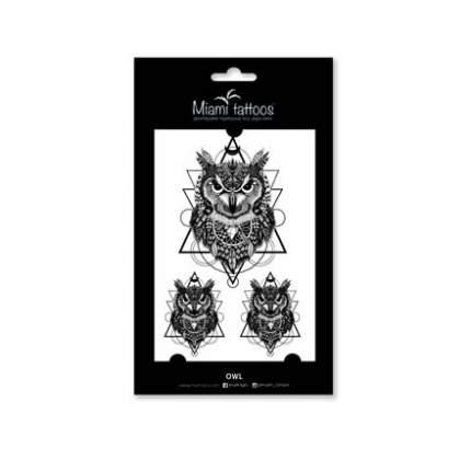 Переводные тату Miami Tattoos Owl